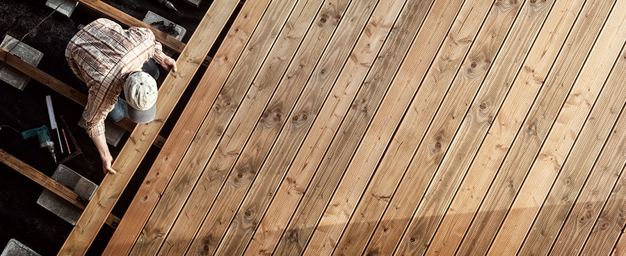 Wood and Trex Decking
